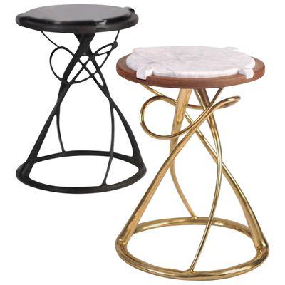 Hourgl Br Side Tables By Misaya Set Of 2