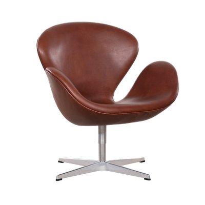 Prime Vintage 3320 Swan Chair In Brown Leather By Arne Jacobsen For Fritz Hansen Evergreenethics Interior Chair Design Evergreenethicsorg