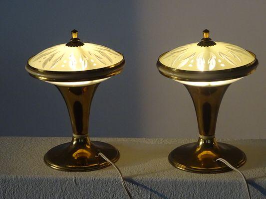 Petites lampes de bureau en laiton s set de en vente sur