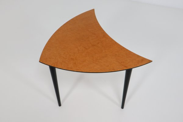 Beau Small Italian Triangle Shaped Coffee Tables, 1960s, Set Of 3 3