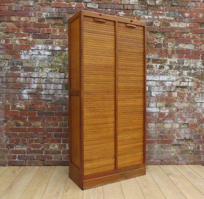Mid Century Double Tambour Cabinet 2