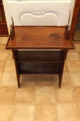 Antique Oak Bookshelf Side Table 2