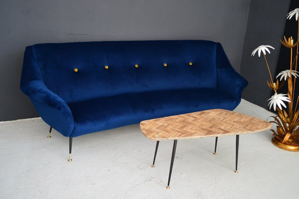 Italian Curved Mid-Century Modern Sofa, 1950s for sale at Pamono