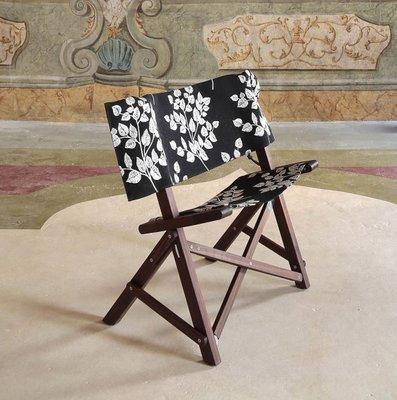 Outstanding Dino Walnut Cotton Chair By Tonuccidesign For Tonucci Manifestodesign Dailytribune Chair Design For Home Dailytribuneorg