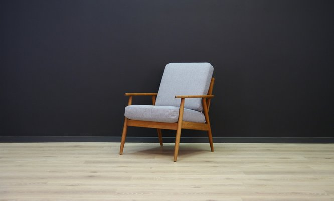 Genuine Leather Armchair Master Chair By Stoll Or Giroflex Oak