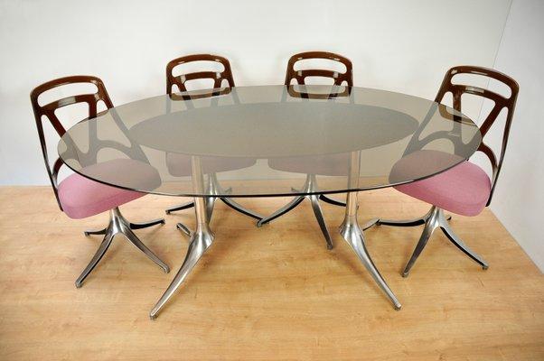 Italienischer Vintage Esstisch 4 Stuhle 1960er Bei Pamono Kaufen