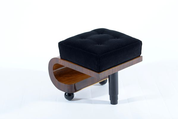 Pleasant Art Deco Italian Black Velvet Stools 1930S Set Of 2 Ibusinesslaw Wood Chair Design Ideas Ibusinesslaworg