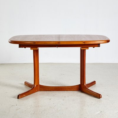 Oval Teak Dining Table From Dyrlund 1960s For Sale At Pamono