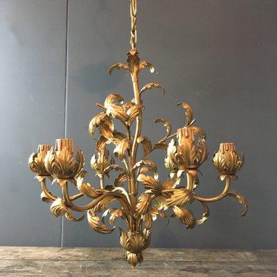 Vintage acanthus leaf chandelier for sale at pamono vintage acanthus leaf chandelier 2 aloadofball Choice Image