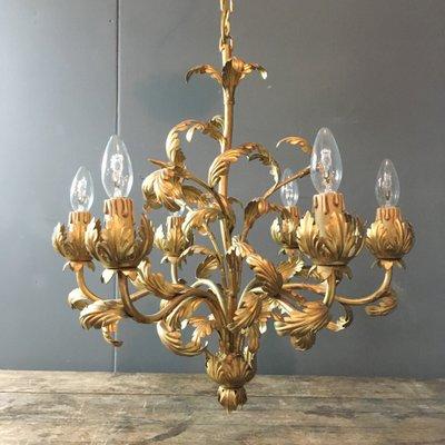Vintage acanthus leaf chandelier for sale at pamono vintage acanthus leaf chandelier 15 aloadofball Choice Image
