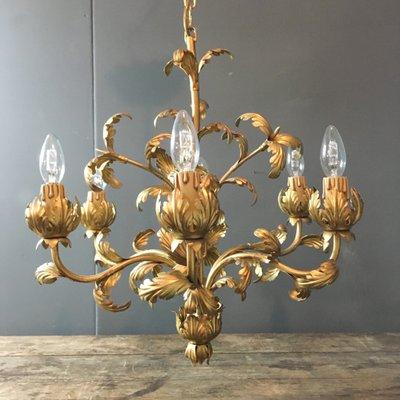Vintage acanthus leaf chandelier for sale at pamono vintage acanthus leaf chandelier 1 aloadofball Choice Image