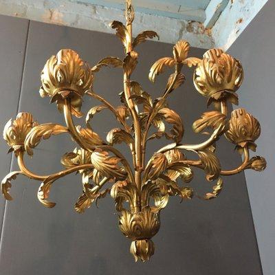 Vintage acanthus leaf chandelier for sale at pamono vintage acanthus leaf chandelier 11 aloadofball Choice Image