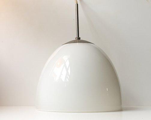 Lampade A Sospensione Vintage : Lampada a sospensione vintage in vetro opalino di louis poulsen