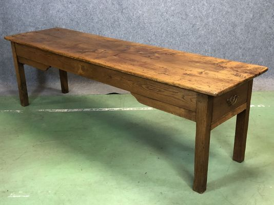 Antique French Elm Farmhouse Table 1