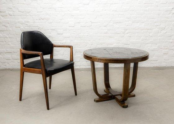 De Century Mid Chaise Et Bureau Scandinave En Cuir1960s Teck 1JTlFK3c