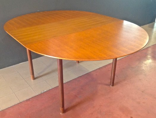 Teak Extendable Round Table By Børge Mogensen, 1950s