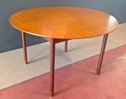 Round Table Orange.Teak Extendable Round Table By Borge Mogensen 1950s