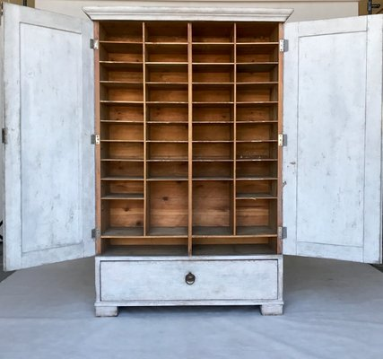 Antique Swedish Post Office Cabinet For