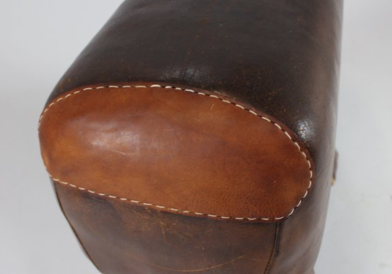 Sgabello o panca da ginnastica in pelle anni in vendita su pamono