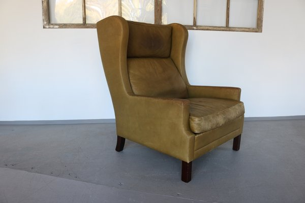 Sensational Vintage Leather Wingback Chair By Georg Thams 1960S Short Links Chair Design For Home Short Linksinfo