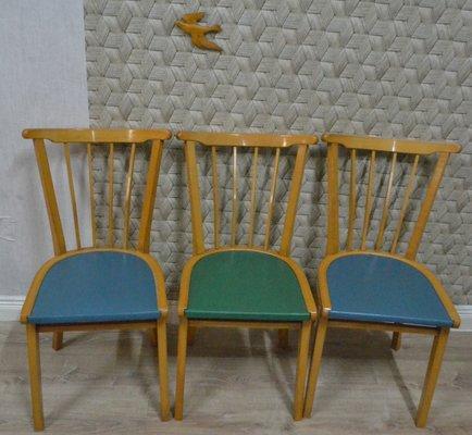 Kuchenstuhle Aus Holz 1950er 3er Set Bei Pamono Kaufen