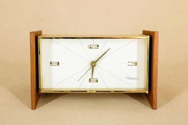 Pelletterie pina ercolano orologio da tavolo in cuoio
