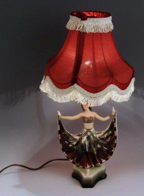Danseur Pour Lampe Rosé Goldscheider Bureau Modèle Ruth De Par Wien1920s 5171 6Yygvf7b