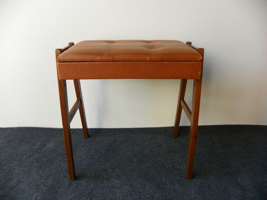 Sgabello da pianoforte vintage con scomparto in vendita su pamono