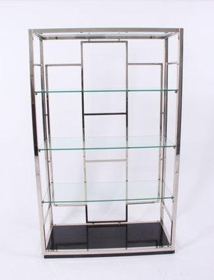 Vintage Regal Aus Chrom Glas Von Willy Rizzo Bei Pamono Kaufen