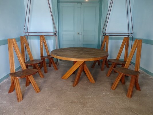 Mid Century Dining Room Set By Pierre Chapo 1