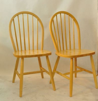 Vintage Wooden Chairs, Set Of 2 2