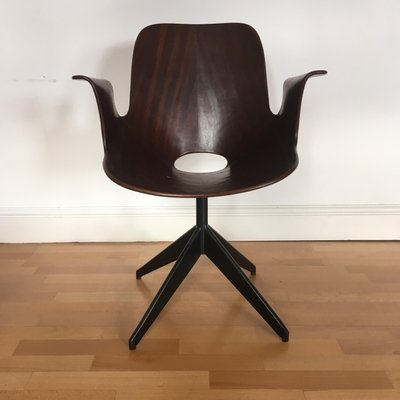 Vintage Medea Desk Chair With Swivel Base By Vittorio Nobili For Fratelli  Tagliabue, 1950s 1