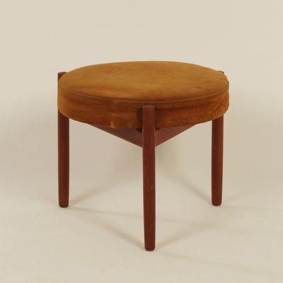 Teak Stool by Hugo Frandsen for Spottrup, 1960s for sale at Pamono