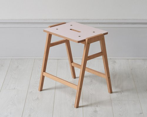 Peachy Small Kw3 Stool In Rose By King Webbon Gmtry Best Dining Table And Chair Ideas Images Gmtryco