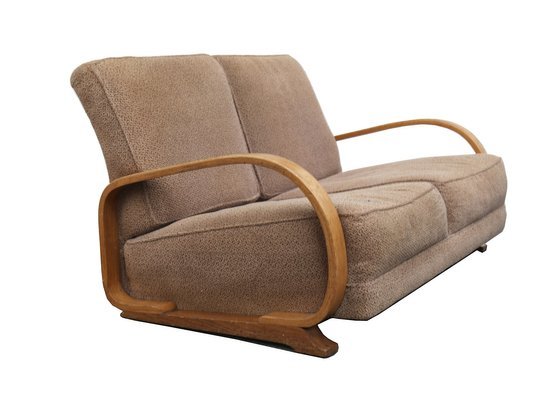 Art Deco 2 Seater Streamline Sofa By Gilbert Rohde For Heywood