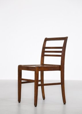 Oak Dining Chairs By René Gabriel 1950s Set Of 8