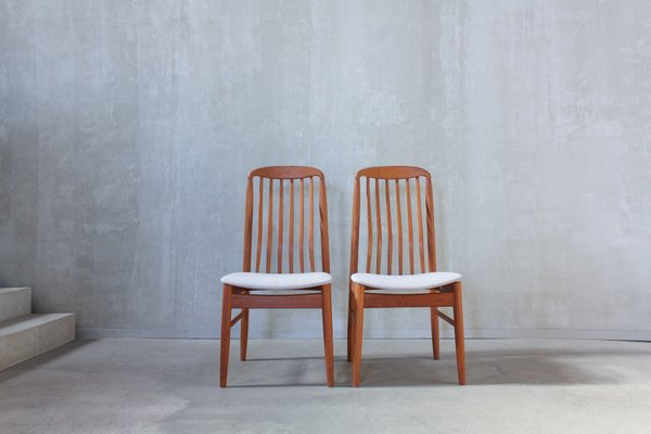 Teak Dining Chairs By Benny Linden 1970s Set Of 6 For Sale At Pamono