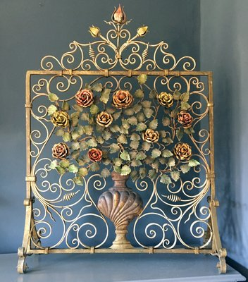 Marvelous Floral Fireplace Screen 1880S Interior Design Ideas Clesiryabchikinfo