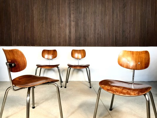 Se68 Plywood Dining Chairs By Egon Eiermann For Wildespieth 1950s