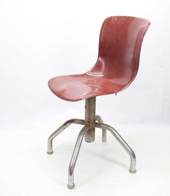 Plastique et Chaise de en Vintage MétalItalie Bureau yN8vw0Omn