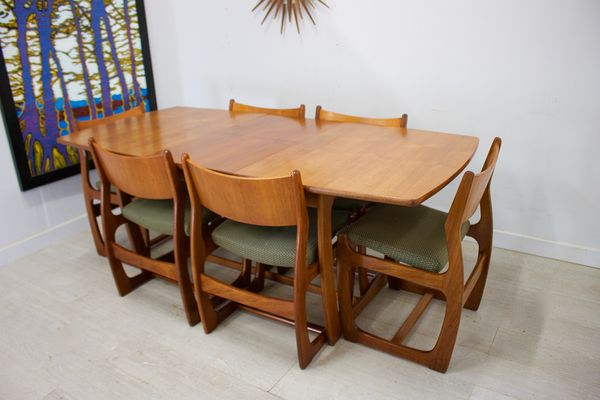 MidCentury Teak Dining Set From Portwood For Sale At Pamono Magnificent Century Dining Room Tables