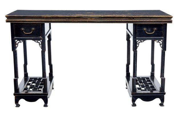 Mobili Cinesi Laccati Neri : Tavolo in legno laccato nero cina xix secolo in vendita su pamono