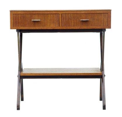 Scandinavian Modern Teak Console Table 1960s
