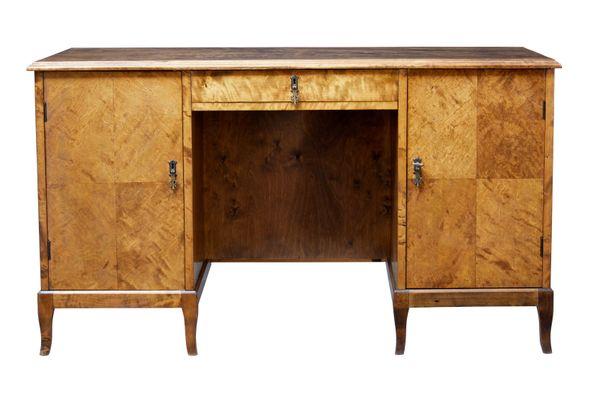 Admirable Mid Century Scandinavian Free Standing Birch Desk Download Free Architecture Designs Scobabritishbridgeorg