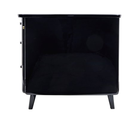 Enjoyable Scandinavian Black Lacquered Desk From Atvidabergs 1950S Onthecornerstone Fun Painted Chair Ideas Images Onthecornerstoneorg