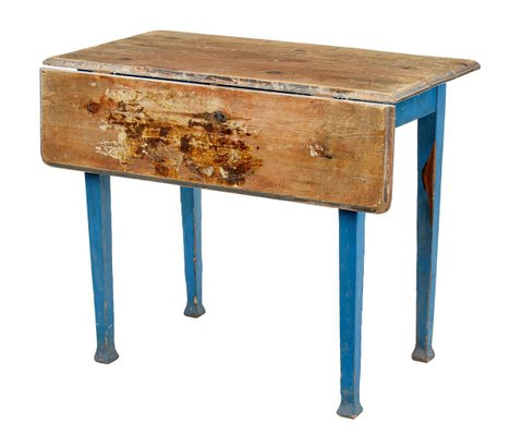 Antique Swedish Pine Drop Leaf Kitchen Table Bei Pamono Kaufen