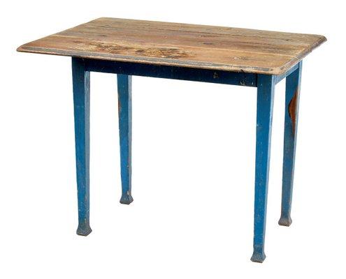 Mesa de cocina abatible sueca antigua de pino en venta en Pamono