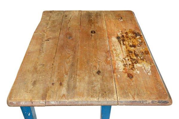 Antique Swedish Pine Drop Leaf Kitchen Table