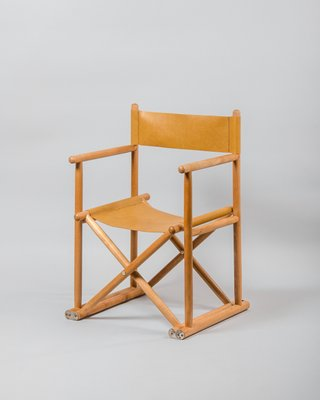 Vintage Directors Chair In Beech And Leather 1