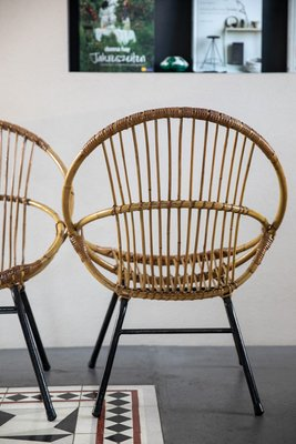 Vintage Rattan Chairs, Set Of 2 2